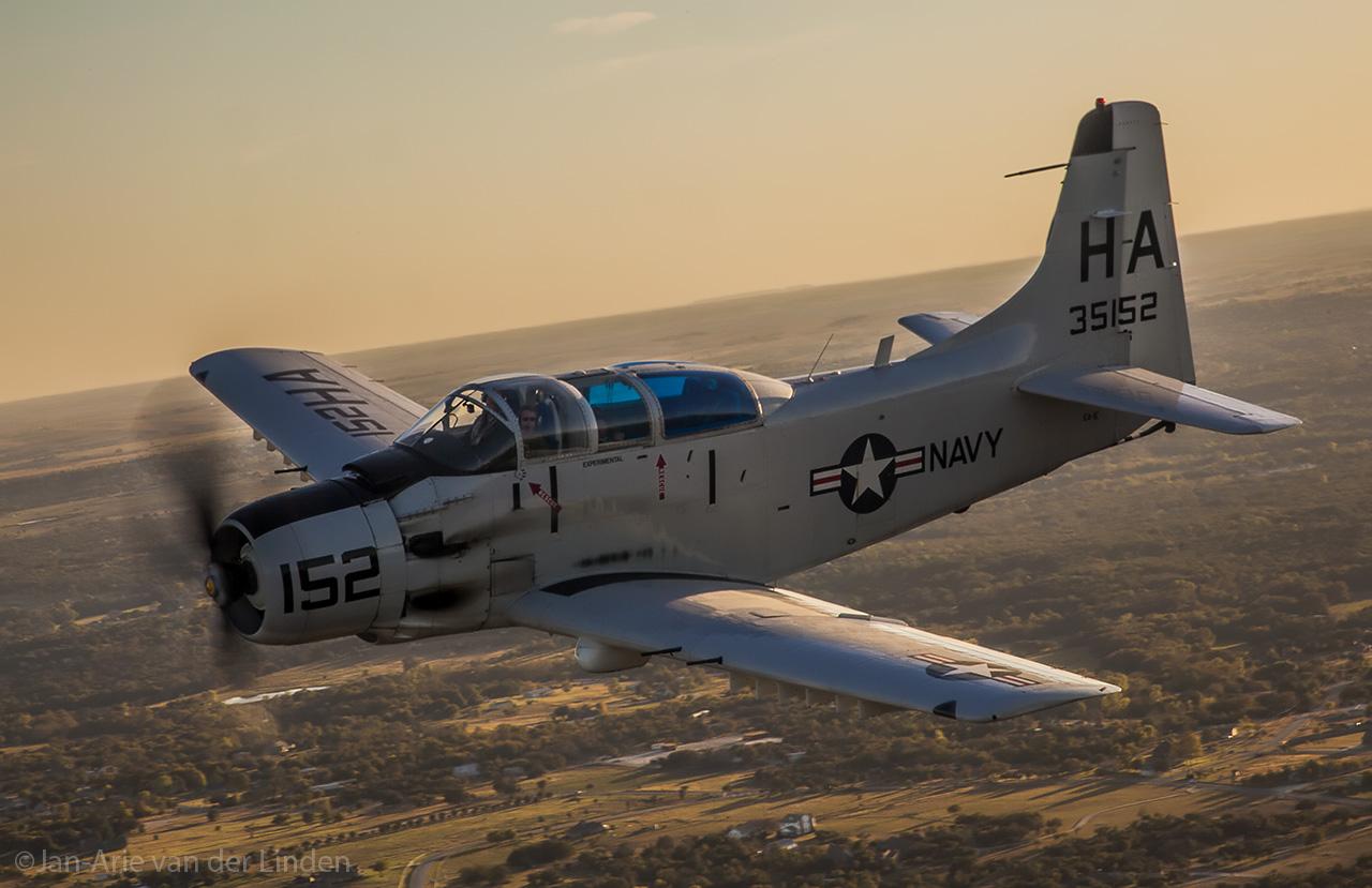 AD5 SkyRaider Cavanaugh Flight Museum ©Jan-Arie van der Linden all rights reserved.