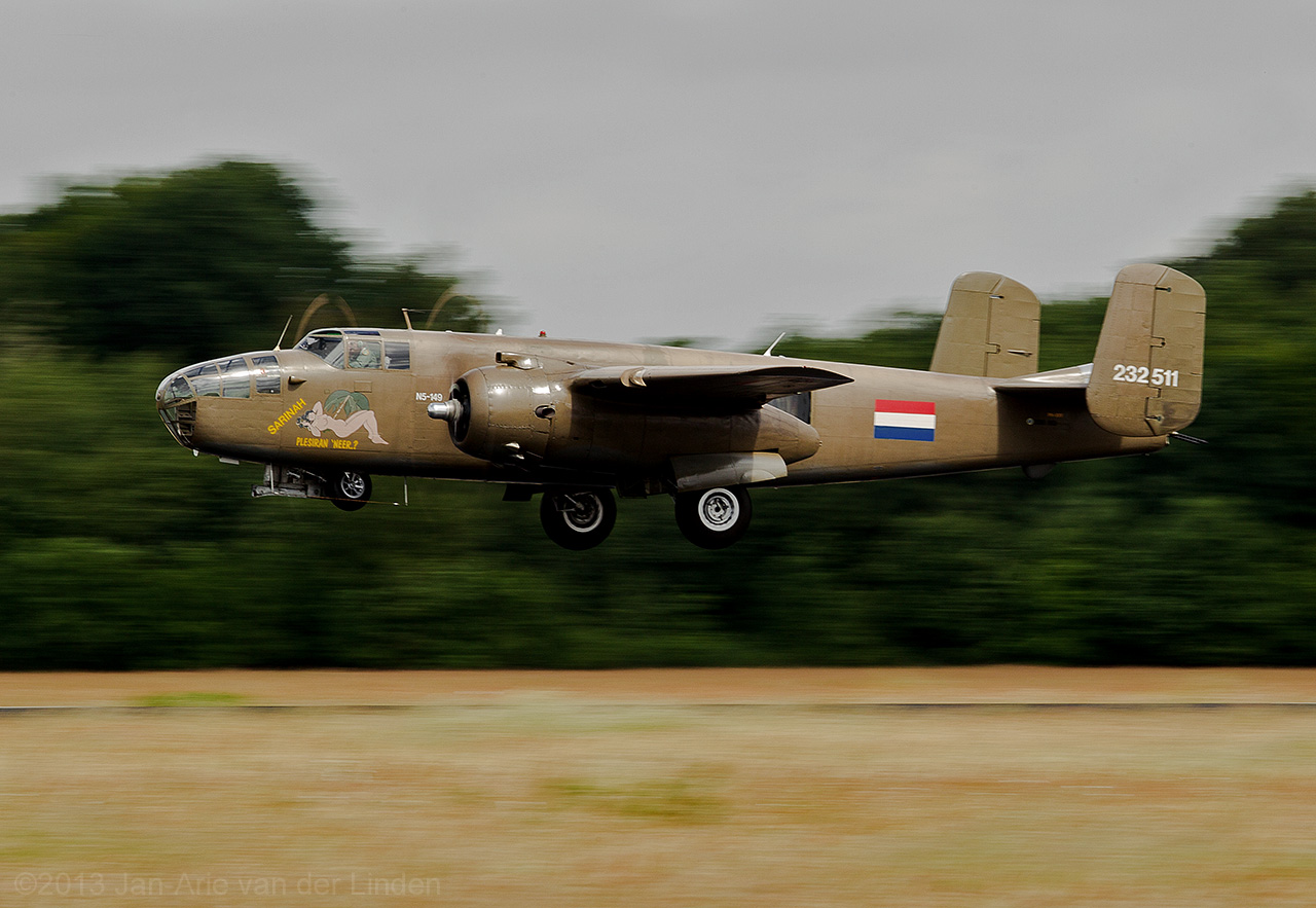 Dutch Airforce Historic Flight B25  ©2013 Jan-Arie van der Linden all rights reserved.