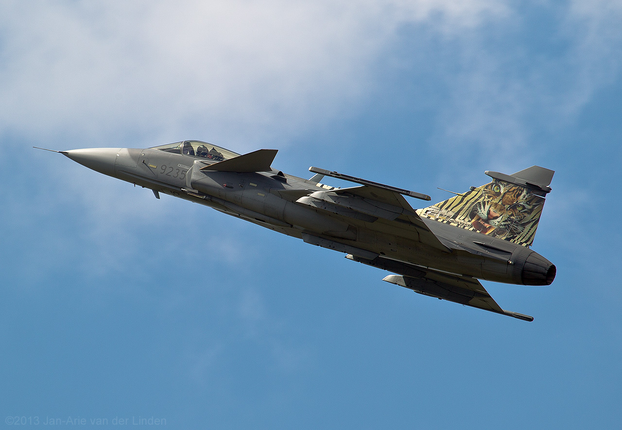 JAS 39 Grippen Czech airforce  ©2013 Jan-Arie van der Linden all rights reserved.