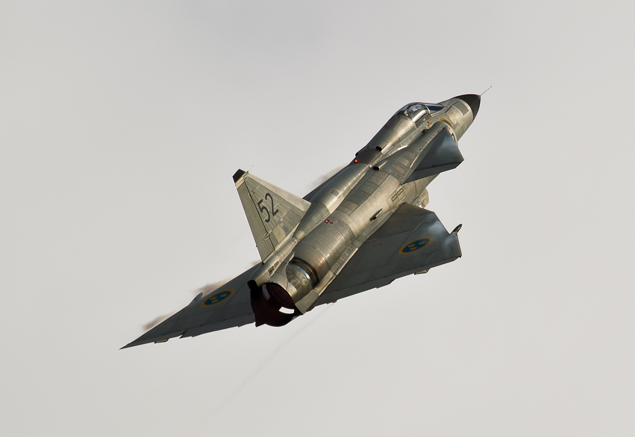 Saab Viggen Swedish Airforce Historic Flight  ©2013 Jan-Arie van der Linden all rights reserved.