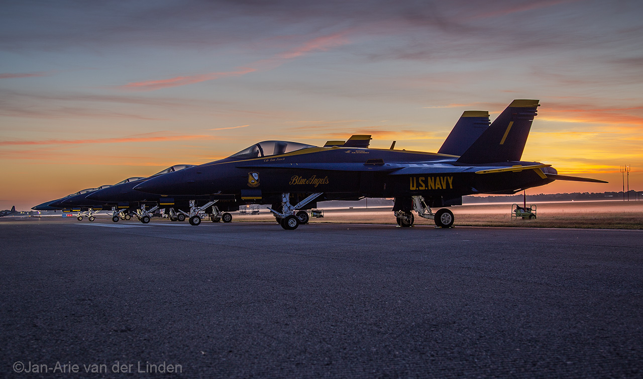 Sunrise over the Blue Angels ©2014 Jan-Arie van der Linden all rights reserved.